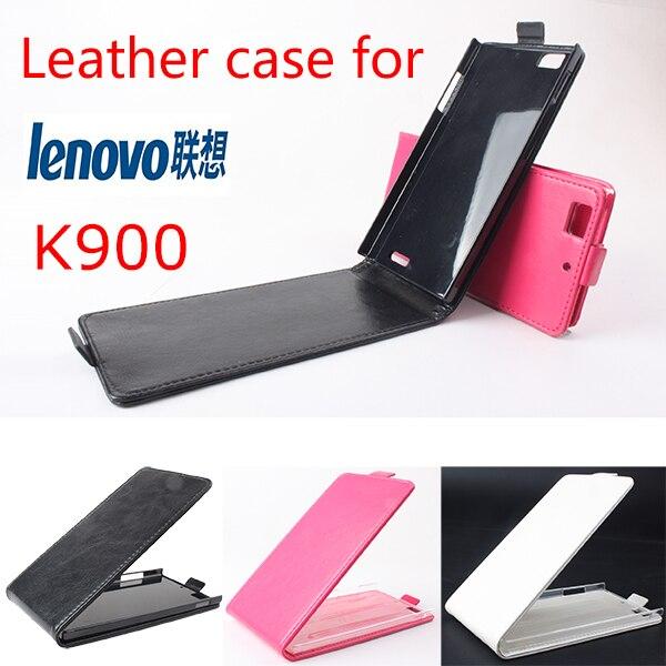 Lujo case cubierta del tirón de cuero original de lenovo k900 teléfono celular a