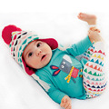 Spring and autumn new baby little donkey twinset cartoon long-sleeve T-shirt multicolour stripe trousers