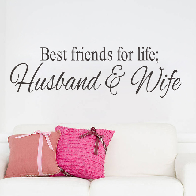 Husbandwife best friends quotes wall decal decor bedroom wall husbandwife best friends quotes wall decal decor bedroom wall sticker home decor wedding decoration art junglespirit Image collections