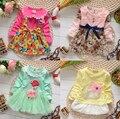Mais de 18 projetos Novos Da Marca Mais 6 Cores vestidos de meninas Do vestido Do Bebê vestidos da menina vestidos de festa de natal trajes frete grátis