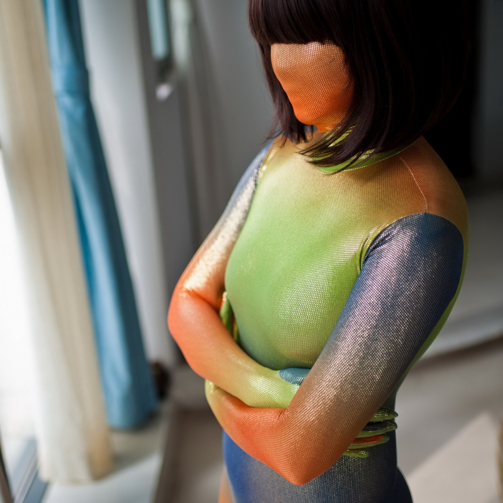 Fetish Lycra Spandex Body Zentai Halloween Luxurious Customized Gradient Color Sexy Skin Suit/tights