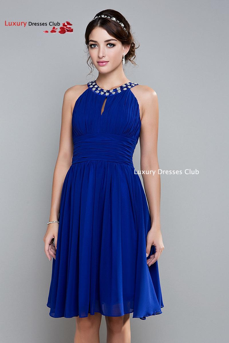 Short royal blue bridesmaid dresses prom dresses 2015 for Royal blue short wedding dresses