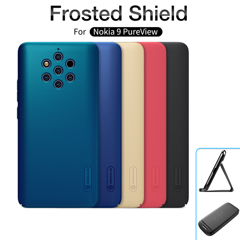 For nokia 9 pure view case 5.99 NILLKIN Frosted PC Matte hard back cover with Gift Phone Holder For Nokia 9 Pure View phone case