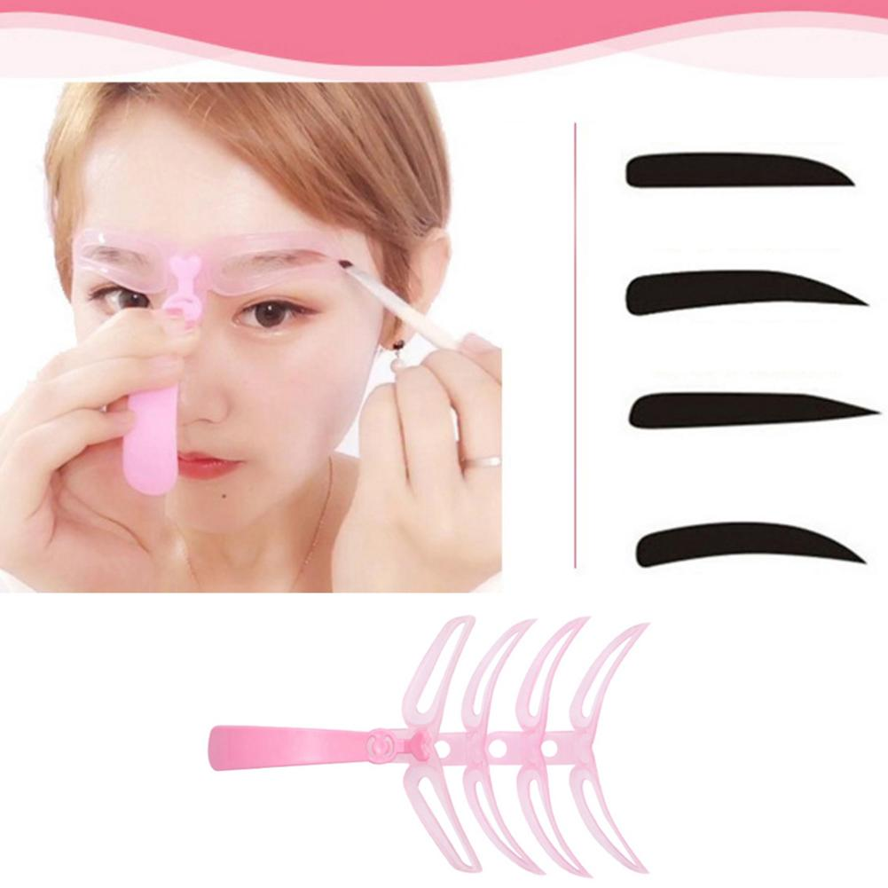 12cm Grooming Makeup Shaping DIY Beauty Eyebrow Stencils Template Cosmetic Tool