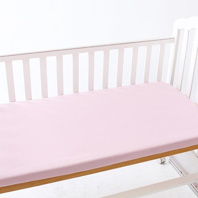 130 70cm Baby Cotton Bed Crib Sheet Bedding Cartoon Mattress Protector Bedspread