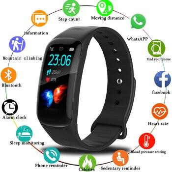 LIGE Smart Watch Heart Rate Blood Pressure Monitor Smart Bracelet fitness tracker Information Reminder Smart Wristband Pedometer