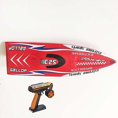 E25 RTR Gallop Fiber Glass Racing Speed Boat W/2550KV Brushless Motor/ 90A ESC/Radio System Ready to Run Boat Red nce6990 to 220 69v 90a