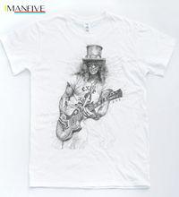 Slash Sketch T Shirt Rock Music Guns Velvet Roses Tee Indie Revolver Top Hip Hop Men Tshirt Unisex Fashion