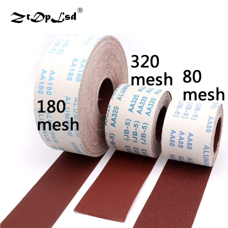 ZtDpLsd 1 Meter 80-600 Grit Emery Cloth Roll Polishing Sandpaper For Grinding Tools Metalworking Dremel Woodworking Furniture