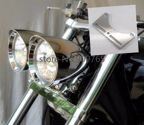 Universal Motorcycle Headlight Lamp Bracket Bottom Mount Clamp For Harley Honda Yamaha Kawasaki Cruiser Chopper Cafe Racer