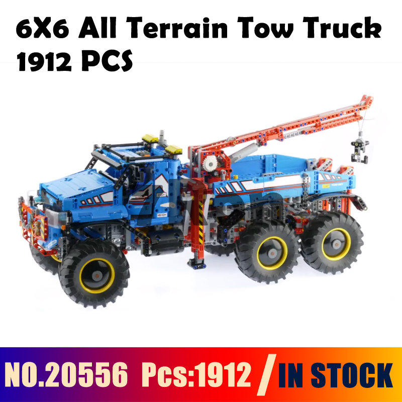 Compatible With lego technic Blocks 42070 Model building toys hobbies 20056 6X6 All Terrain Tow Truck Educational DIY Bricks free shipping tow truck diy enlighten block bricks compatible with other assembles particles