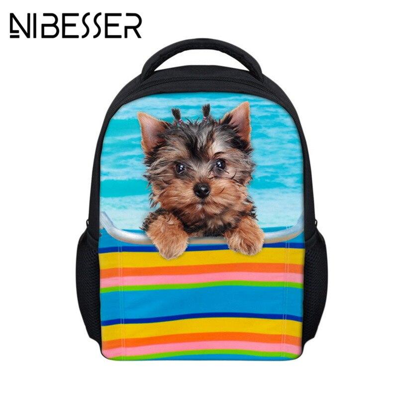 NIBESSER Lovely Dog Printing Backpack Children Bag Mini School Backpack Kids Daypacks For Boys Girls Student Travel Backapck