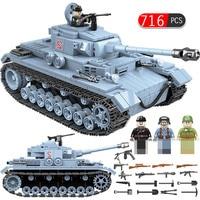 Technik Military Ww2 German Tank Building Blocks Compatible Legoed Army City Soldier Police Figures Weapon Bricks Sets Boys Toys