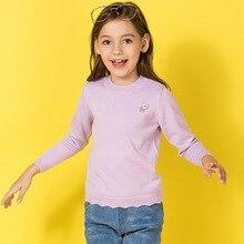 Girls sweater 2018 autumn new slim round neck girls sweater children's sweater sets European and American children's clothing