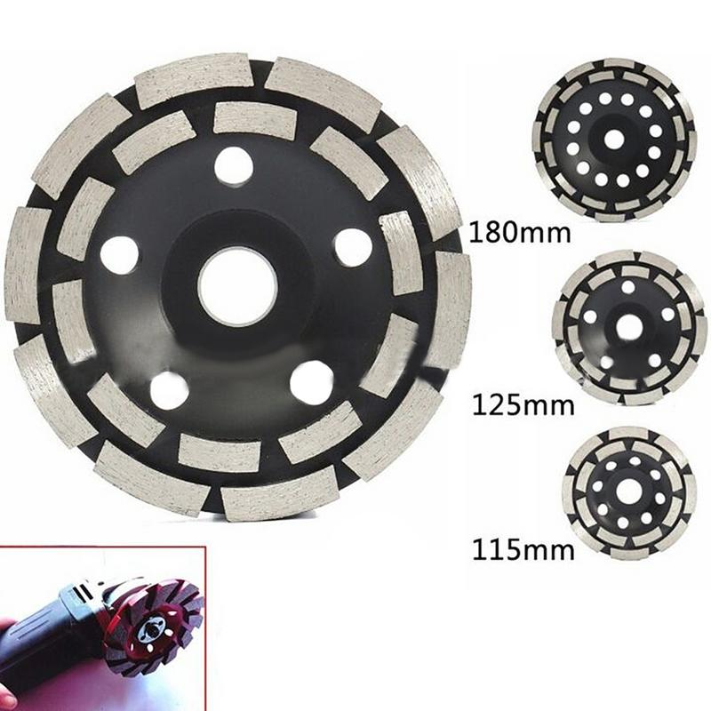 115/125 /180 Mm Diamond Segment Grinding Cup Wheel Disc Double Row Millstone Brick Cut For Angle Grinder