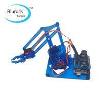 DIY mearm joystick robot arm kit mechanical arm robot gripper acrylic joystick button controller