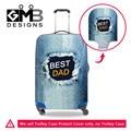 Denim Impresso Bagagem Tampas de Proteção Palavra Imagem Do Logotipo Customed Trecho Elástico Tampa Da Mala Para 18-30 Polegada Caso de Viagem