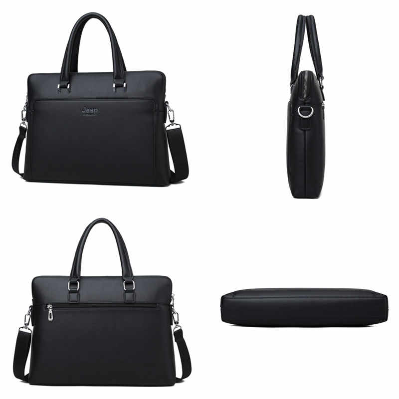 جيب BULUO الرجال حقائب مكتبية حقيبة يد جلدية لمدة 14 بوصة حقائب الكمبيوتر المحمول رجل الأعمال السفر حقيبة حمل حقيبة ملفات A4