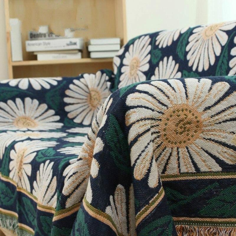Couverture en coton tricoté climatisation canapé couverture fil couverture tricoté décoratif tapis tapis/literie serviette cadeau de noël