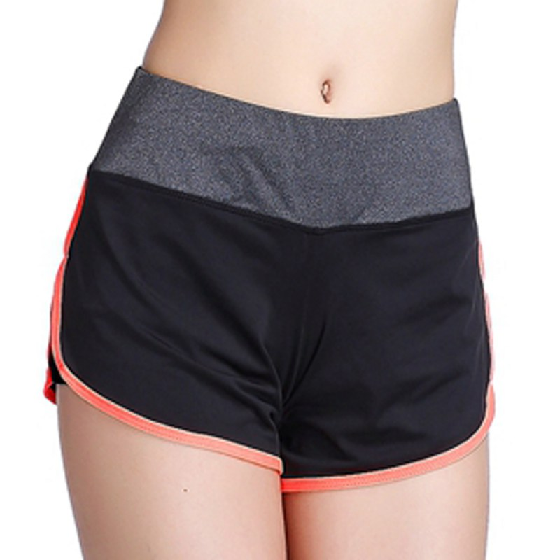 Plus Size Women Cotton Sports Shorts Elastic Waist Loose Running Shorts Yoga Short Feminino