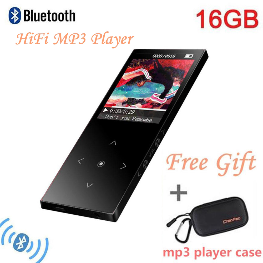 Freies Mp3 Player Fall Genossenschaft 16 Gb Bluetooth4.1 Mp3 Player Touch Taste Ultra Dünne 1,8 Zoll Farbe Bildschirm Verlustfreie Sound Mp3 Muisc Player Unterhaltungselektronik