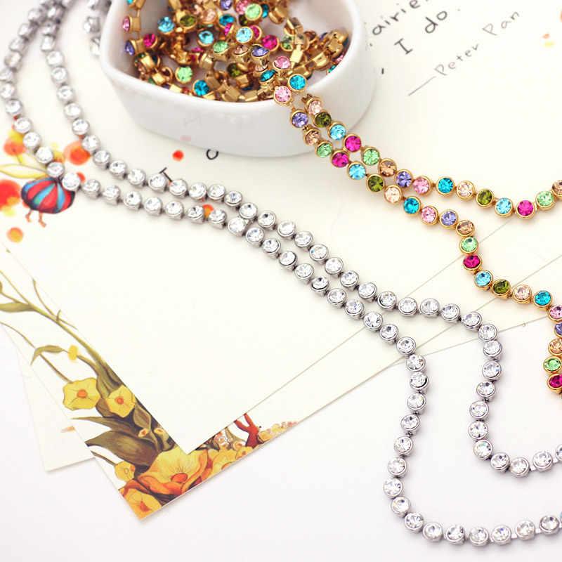Neoglory Austrain Кристалл Красочные Длинной Цепи Бусины кисточкой Ожерелья для мужчин для Для женщин девочек Модные украшения подарки 2017 Коелф