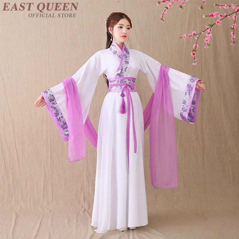 Nouveau traditionnel ancien chinois Hanfu scène danse spectacle chinois danse folklorique femmes classique Tang dynastie Hanfu robe DD374 F