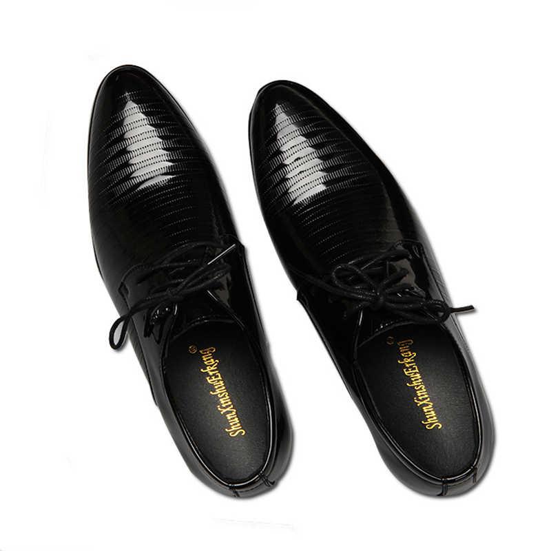 Классические Мужские модельные туфли; Кожаные Туфли-оксфорды в итальянском стиле с перфорацией; большие размеры; деловая обувь из искусственной кожи; Роскошная офисная обувь; Новинка