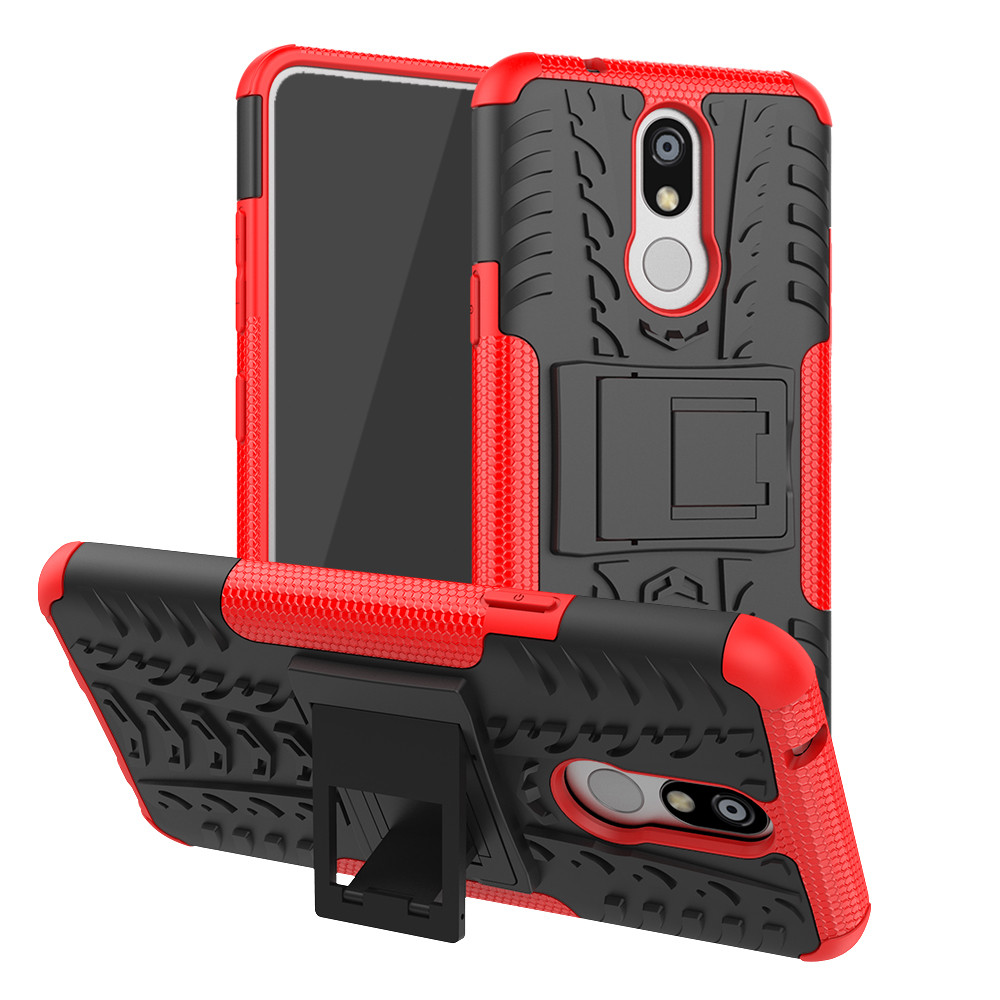For LG K12 Plus Case 5.7 inch Luxury PC + TPU Cover Stand Armor ShockProof Case For LG <font><b>K12Plus</b></font> K12+ X420BMW LM-X420B Phone Cases image
