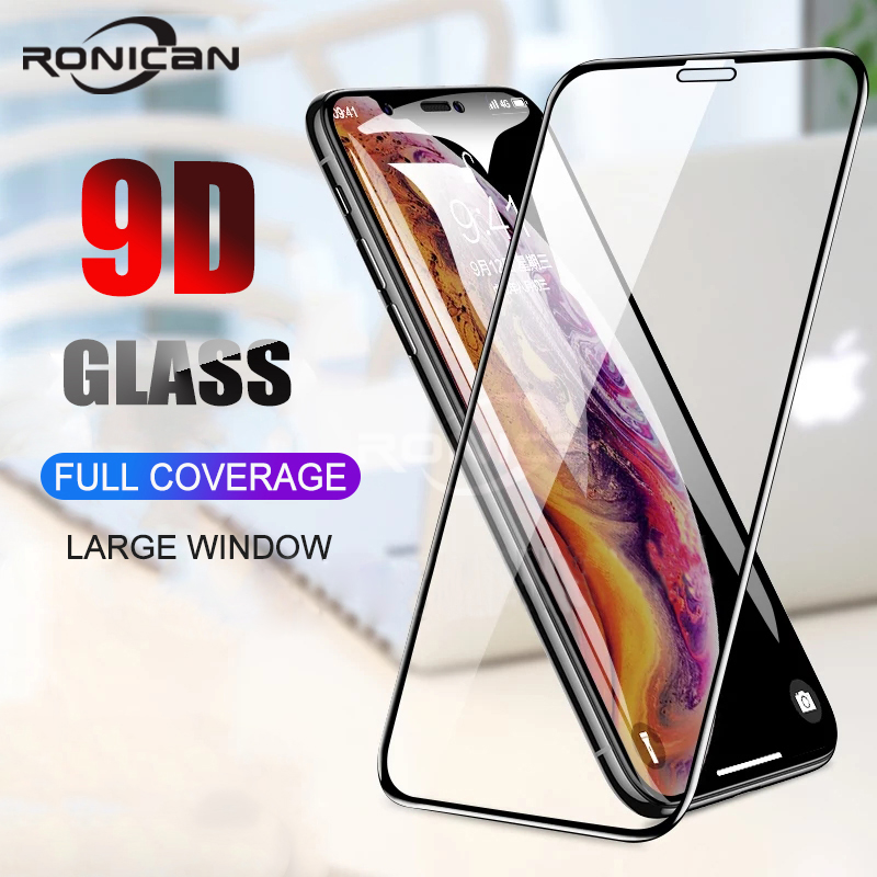 2Pcs 9D Full Cover Tempered Glass For <font><b>iPhone</b></font> <font><b>X</b></font> <font><b>XS</b></font> Max XR Screen Protector Anti Blue light Glass For <font><b>iPhone</b></font> <font><b>X</b></font> <font><b>XS</b></font> XR Glass <font><b>Film</b></font> image