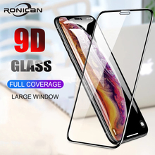 2Pcs 9D Full Cover Tempered Glass For iPhone X XS Max XR Screen Protector Anti Blue light Film