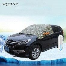 Автомобильные чехлы для снежного покрова, водонепроницаемые наполовину автомобильные Чехлы, антифриз, снежный щит, снежный блок, ветровое стекло, одежда