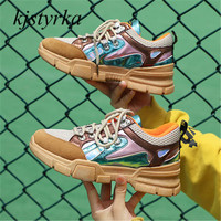 kjstyrka tenis feminino 2018 Woman Sneakers high quality breathable casual mixed colors Non Slip espadrilles sapato feminino