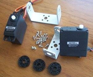 Image 3 - Бесплатная доставка 2DOF робот FPV панорамирование/наклон для DIY камеры платформы 5,5 кг Крутящий момент Аналоговый сервопривод Крепление камеры для самолета FPV пластик