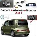 3 in1 Especial Cámara + Receptor Inalámbrico + Sistema de Copia de Seguridad Aparcamiento Monitor Del Espejo DIY Fácil Para NISSAN Cube Z12 2008 ~ 2014