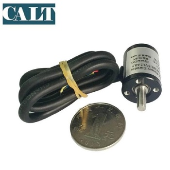 CALT 18mm Tiny 4mm Shaft Hall Angle Encoder 360 SSI Output 5v 10 12 14 bit HAE18 Magnetic Absolute Encoder 3.3v 12 14 bit cheap price for 28mm outer dia hall sensor ssi micro miniature absolute encoder hae28 wholesale 10pcs in pack