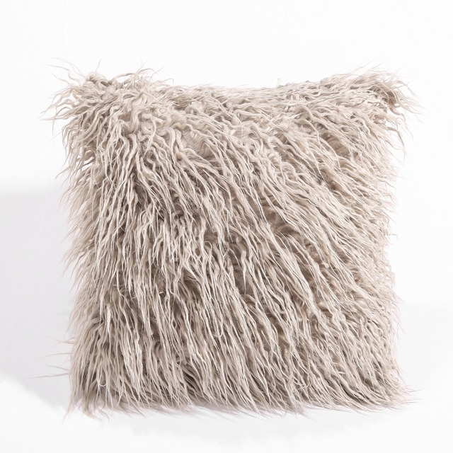 CAMMITEVER Simulation Fake fur Suede Luxury Cushion Cover Wholesale Decorative Throw Pillows For Sofa Car Chair Office Hotel