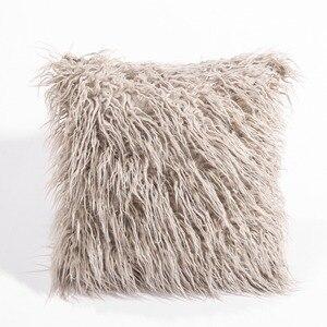 Image 1 - CAMMITEVER シミュレーション偽毛皮スエード高級クッションカバー卸売装飾的なスロー枕ソファ車の椅子オフィスホテル