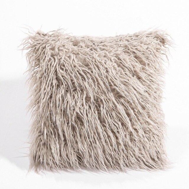 CAMMITEVER シミュレーション偽毛皮スエード高級クッションカバー卸売装飾的なスロー枕ソファ車の椅子オフィスホテル