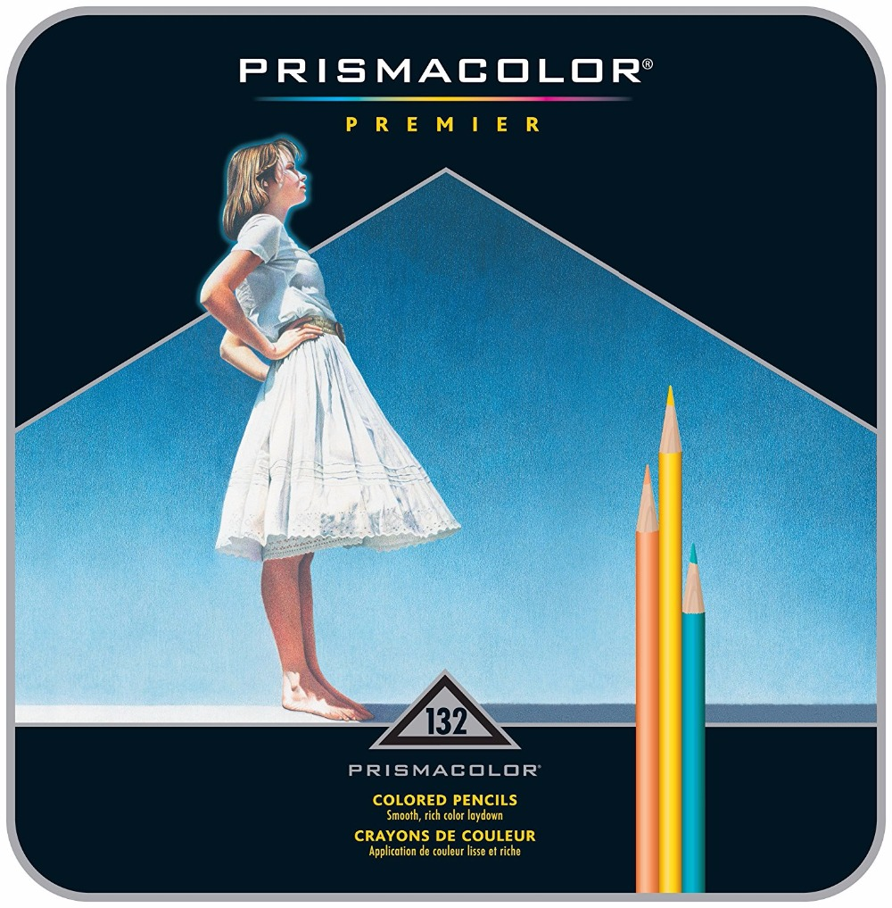 Prismacolor Premier Colored Pencils, Soft Core,132-Count professional drawing oil based coloring pencils lapices  art supplies soft computing based techniques in cellular manufacturing systems