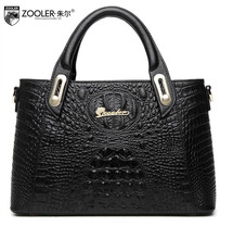 ZOOLER2016 new high-quality fashion luxury brand handbag genuine leather bag counter genuine, female well-known brands