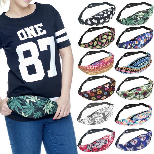 New 3D Colorful Waist Pack for Men Fanny Pack Fruit Style Bum Bag Women  Money Belt Travelling Mobile Phone Bag 82b6f575e
