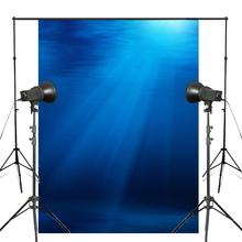 5x7ft Seabed Photo Studio Backdrops Blue Ocean Background Photography Backdrops wall цена и фото