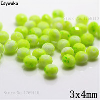 Isywaka 3X4mm 30,000pcs Rondelle Austria faceted Crystal Glass Beads Loose Spacer Round Beads for Jewelry Making NO.05