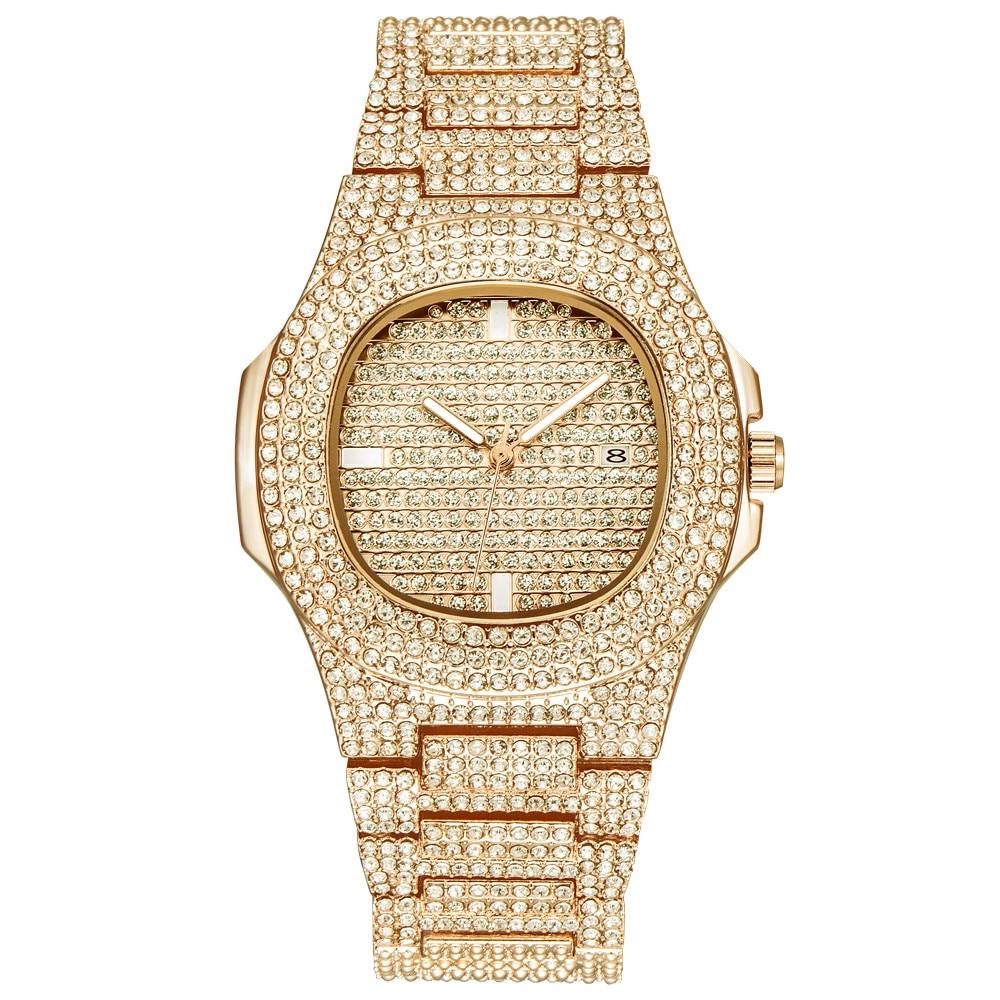 Dress Watches Ceramic High-Quality Rhinestone Crystal Quartz Luxury Women Zegarek Damski