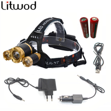 Z30 Led Headlight Zoom headlamp XM-L T6 Rechargeable Head lamp Flashlight Head Torch XM-L T6+2R5 for hunting/camping/Light