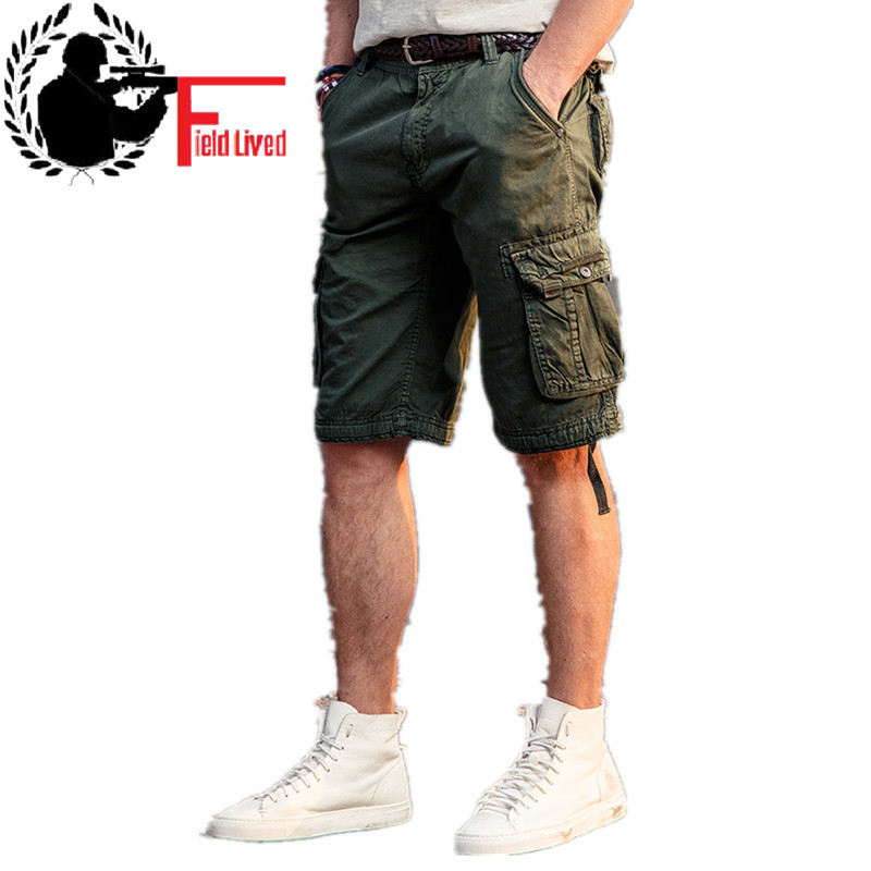 CARGO SHORTS MEN 2020 New Summer Casual Army Combat Short Pants Military Style Cotton Multi Pockets Tactical Bermuda Male Shorts