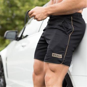 Letnie męskie siłownia szorty fitness kulturystyka Jogging treningowe męskie kolano długość oddychające treningowe i spodenki do ćwiczeń tanie i dobre opinie Pasuje prawda na wymiar weź swój normalny rozmiar
