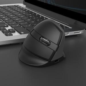 Image 5 - Delux M618Mini GX 2.4GHz אלחוטי אנכי עכבר 6 כפתור 1600 DPI ארגונומי עיצוב מחשב מיני USB עכברים עבור Windows מחשב נייד מחשב