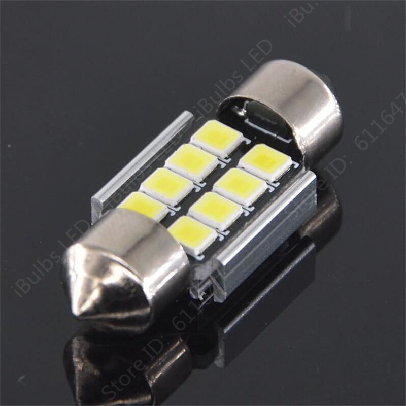 10Pcs No Electrode Festoon 31mm 36mm 39mm 41mm C5W 8 LED 2835 SMD Canbus Error Free Auto Interior Reading Map Lights Lamp 31mm 36mm 39mm 41mm c5w c10w canbus no error auto festoon light 12 smd 4014 led car interior dome lamp reading bulb white dc 12v